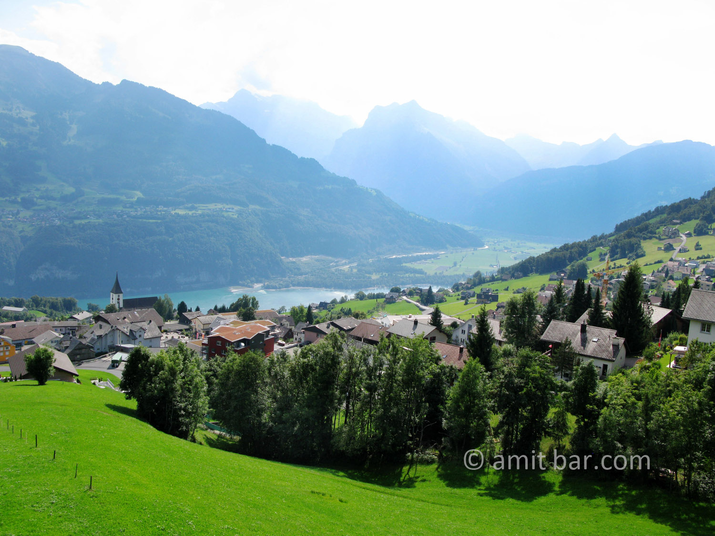The mountains around Amden, Switzerland