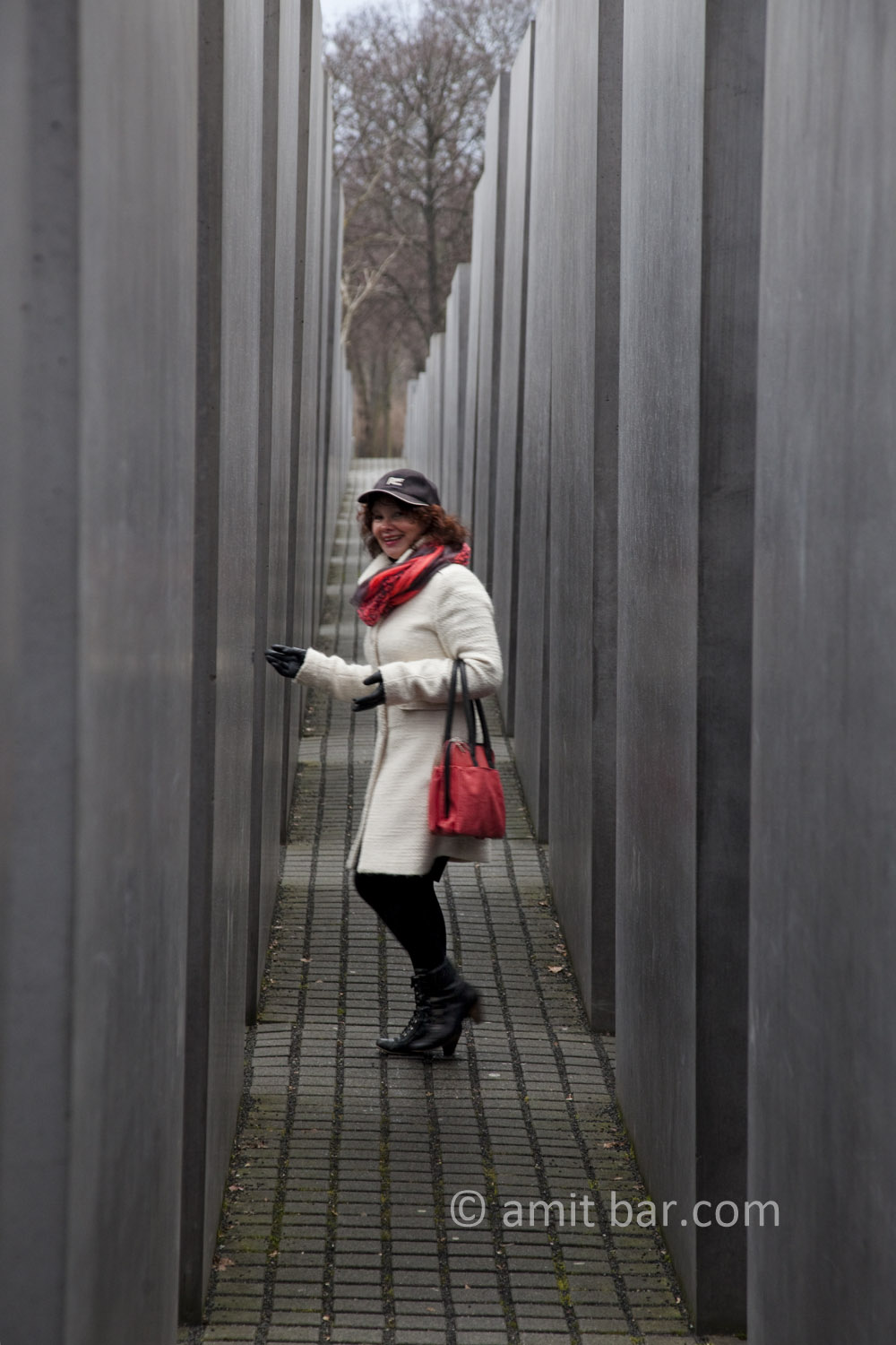 Berlin: Contrasts. The Holocaust monument