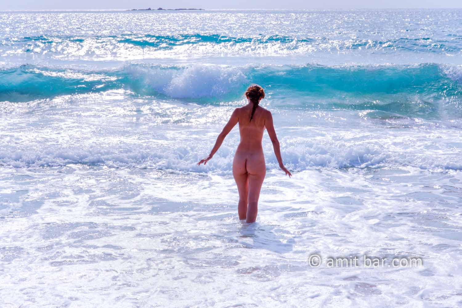 Betset I: Nude model in the sea beside Betset, Israel