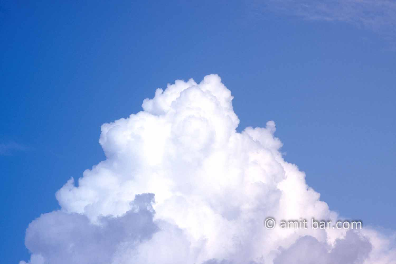 Clouds XI: White clouds in blue sky