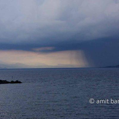 Corfu: Storm above Corfu city