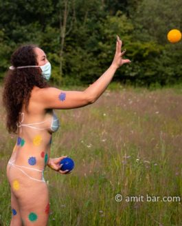 Corona virus body-painting and other projects