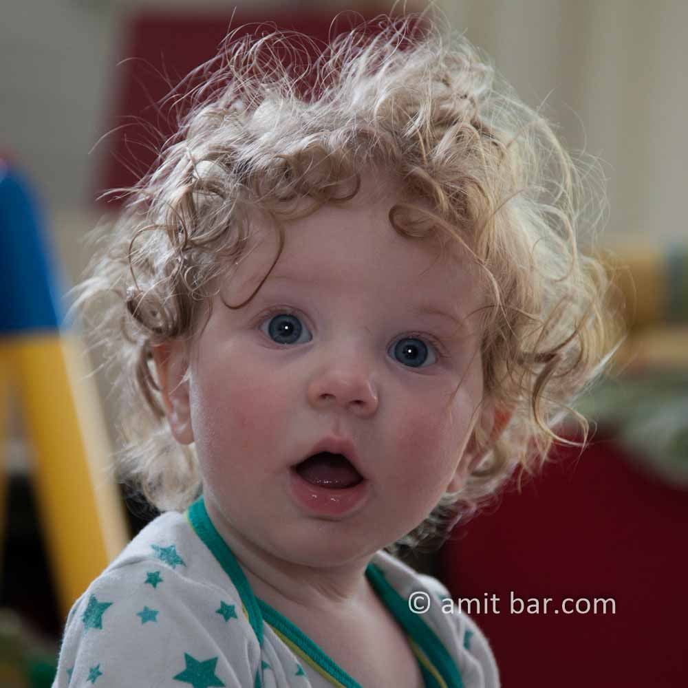 Curls II: Curly baby is astonished