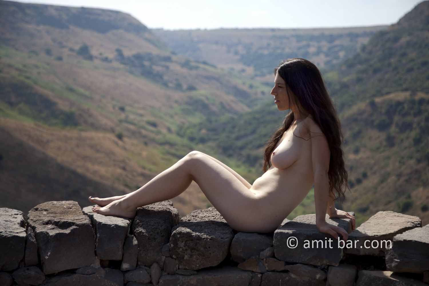 Gamla I: Nude model at Gamla fortress, the Golan Heights