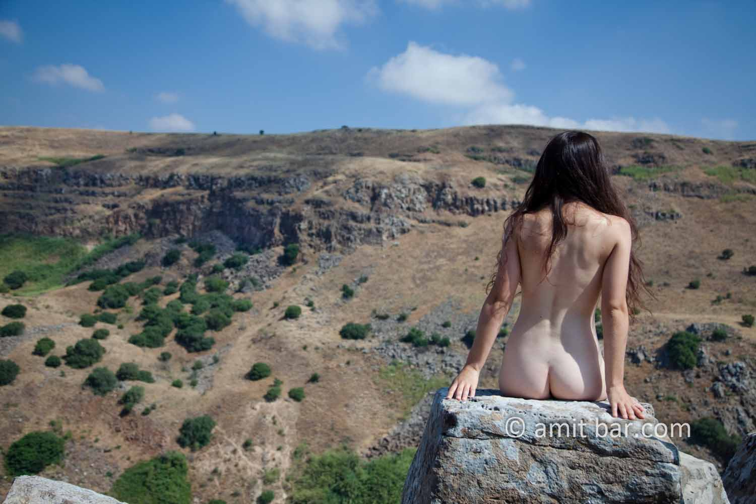 Gamla III: Nude model at Gamla fortress, the Golan Heights