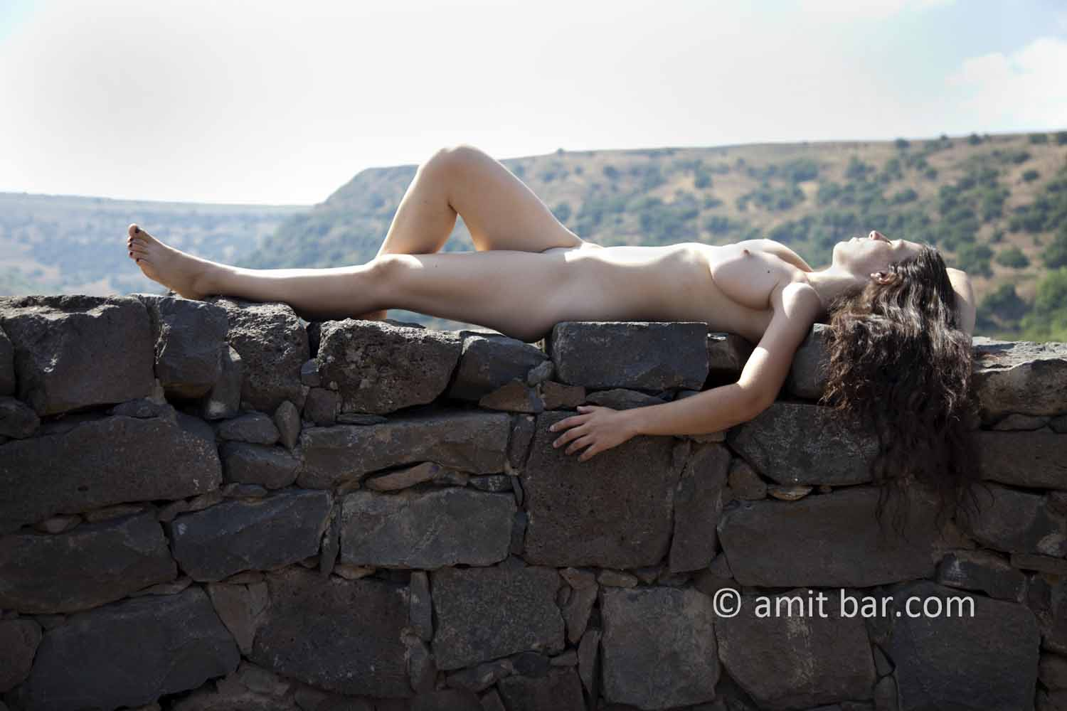Gamla IV: Nude model at Gamla fortress, the Golan Heights