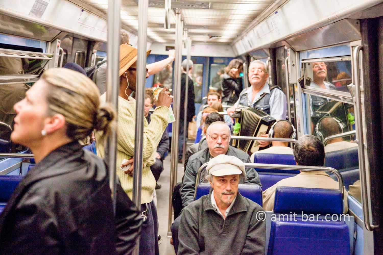 Paris: Metro scene: Paris snapshot