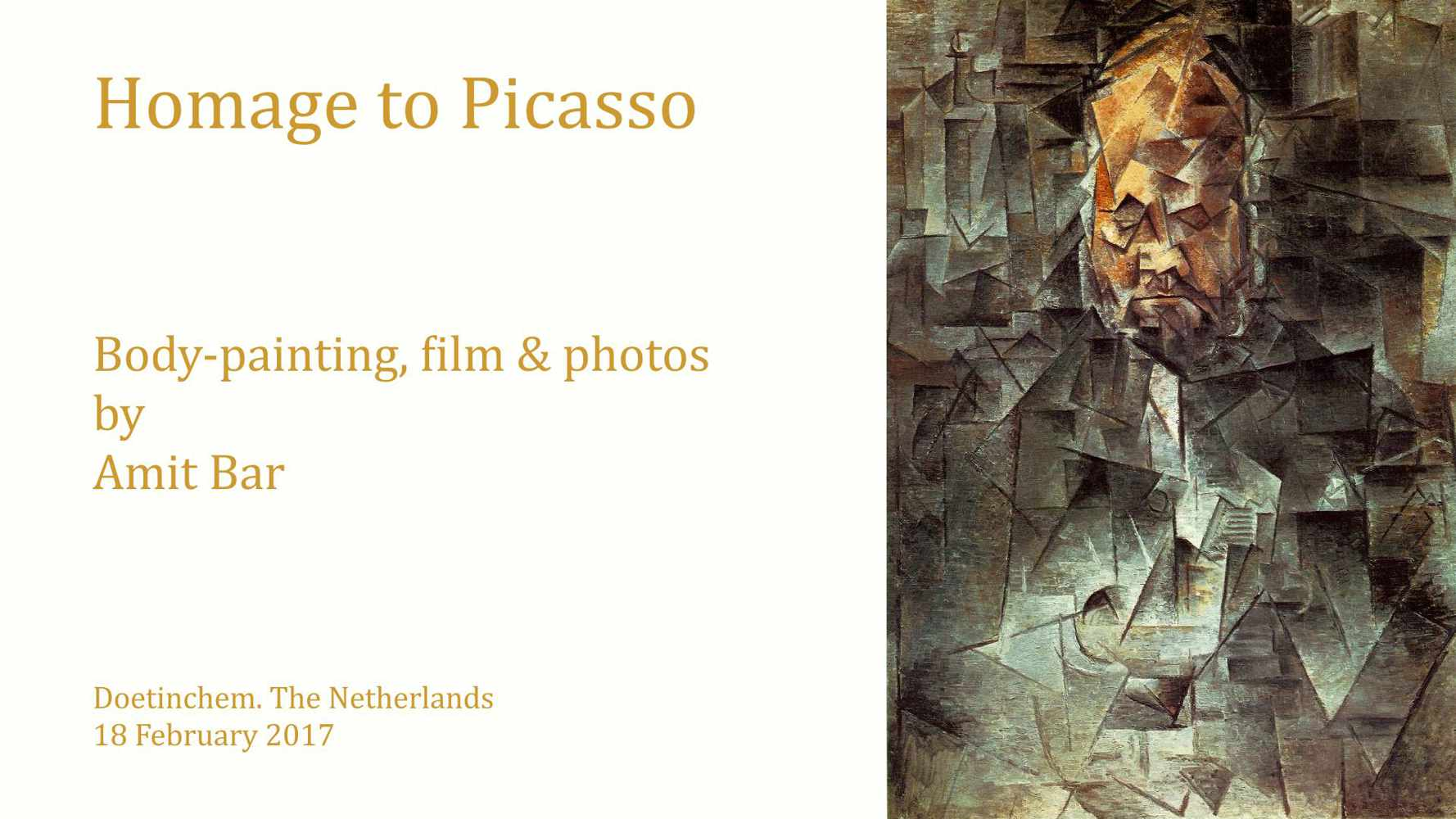 Homage to Picasso video: The cubistic portrait of art-dealer Ambroise Vollard which is painted in 1910 by Picasso inspired me to create a homage to the artist.