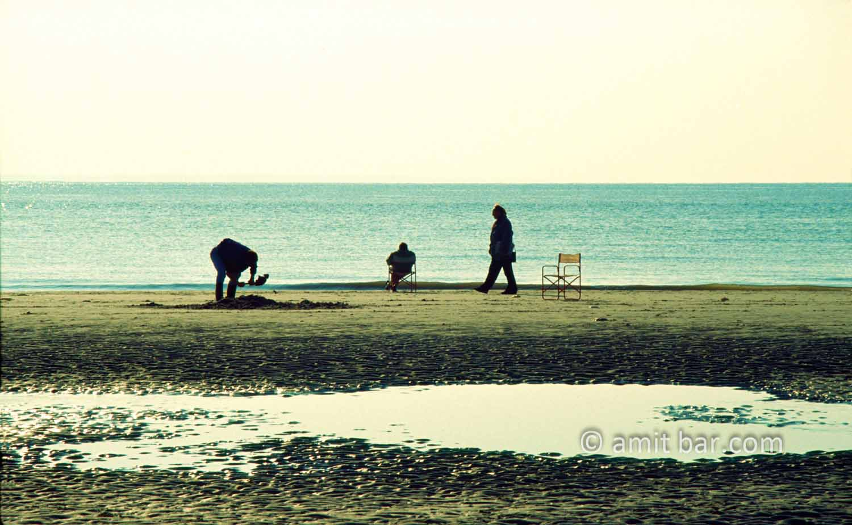Surreal: Surreal scene on the sea shore